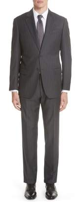 Emporio Armani G Line Trim Fit Stripe Wool Suit
