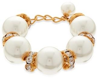 Dolce & Gabbana Faux Pearl Embellished Bracelet - Womens - Pearl