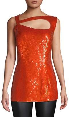 Escada Women's Gladiola Sleeveless Sequin Top