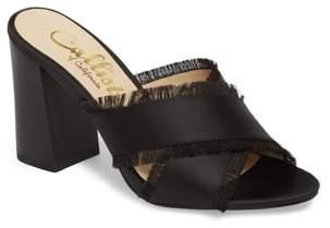 Callisto Delaney Fringe Cross Strap Sandal