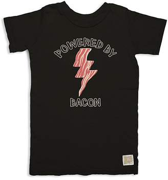 Original Retro Brand Boys' Powered By Bacon Tee - Little Kid