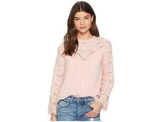 Kensie Crinkle Swiss Dot Top KS3K4385 Women's Clothing
