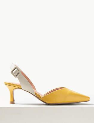 Marks and Spencer Kitten Heel Slingback Shoes