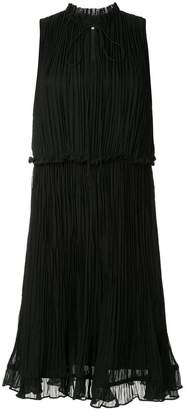 CK Calvin Klein crinkle sleeveless mini dress