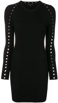 Alexander Wang embellished fitted mini dress