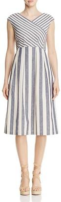 Lafayette 148 New York Ximena Striped Dress $498 thestylecure.com