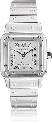 Cartier Vintage Watch Women's 1999 Santos Galbe Watch - Silver
