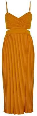 A.L.C. Sienna Orange Plissé Dress