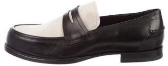 Bottega Veneta Two-Tone Leather & Suede Loafers