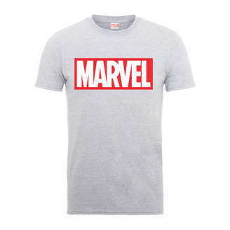 Marvel Main Logo Men's Grey T-Shirt