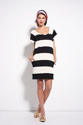 Diane von Furstenberg El Shane Dress in Black & White