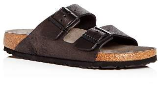 Birkenstock Women's Arizona Washed Leather Slide Sandals