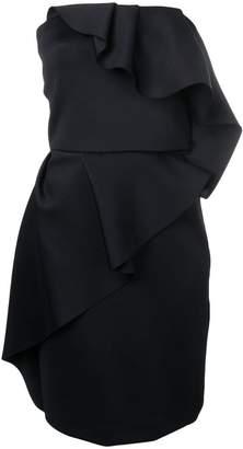 Lanvin ruffle bustier dress