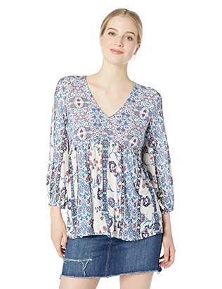 Vintage America Blues Women's Analise 3/4 Sleeve Vneck Knit Pullover Top