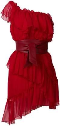 Federica Tosi tie-waist one shoulder dress