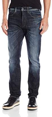 G Star G-Star Men's Defend 51062 6083 Straight Jeans, Blue (Dark Aged)