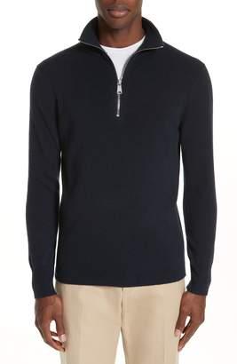 Burberry Hendon Quarter Zip Cashmere Sweater