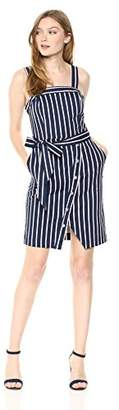 J.o.a. Women's Sleeveless Overlap Mini Sheath Dress with Stud Detail
