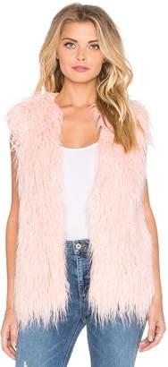 MinkPink MINK Pretty in Faux Fur Vest Size XS/S