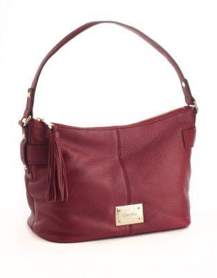 Calvin Klein Key Item Leather Hobo Bag