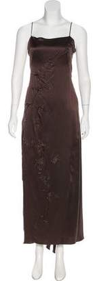 Alberta Ferretti Silk Embellished Dress