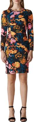 Whistles Digital Bloom Print Body-Con Dress