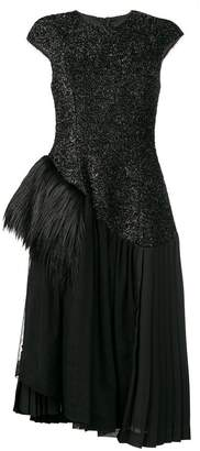 Simone Rocha glitter ruffle dress