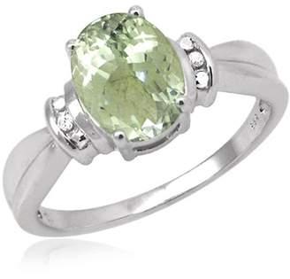 JewelersClub 1.90 Carat T.W. Green Amethyst Gemstone and Accent White Diamond Ring