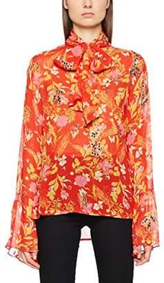 55d9057d30eda0 MACKINTOSH Millie Women s Embroide Leopard Rose Print TOP in Loose Fit  Floral Long Sleeve Blouse