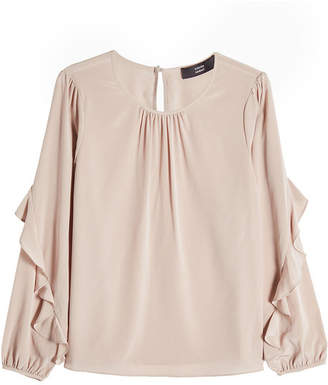 Steffen Schraut Silk Blouse with Ruffles