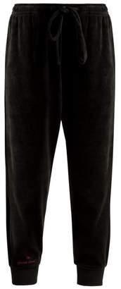The Upside Hoya Velour Track Pants - Womens - Black