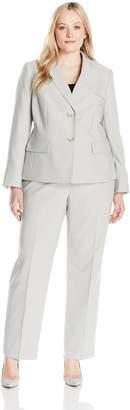 5bf58bfe95a Le Suit LeSuit Women s Plus-size Pinstripe 2 Button Pant Suit