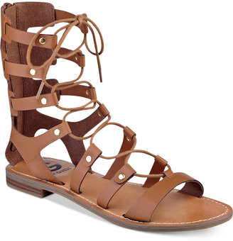 G by GUESS Hopey Gladiator Sandals $59 thestylecure.com