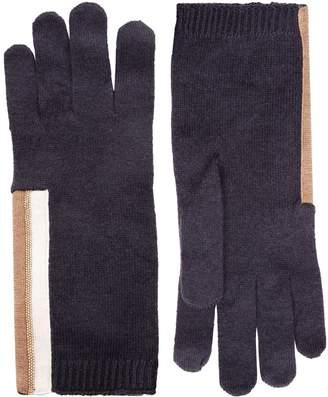 Brunello Cucinelli Cashmere Chain Gloves