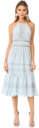 Rebecca Taylor Sleeveless Gauze Midi Dress $595 thestylecure.com