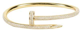 "18K Yellow Gold and Diamond ""Juste Un Clou"" Bangle Bracelet"