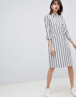 Selected Stripe Wrap Shirt Dress