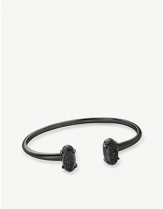 Kendra Scott Edie gunmetal plated brass cuff bracelet