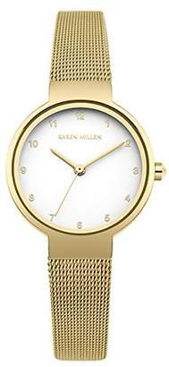Karen Millen Women's Quartz Metal and Stainless Steel Casual Watch