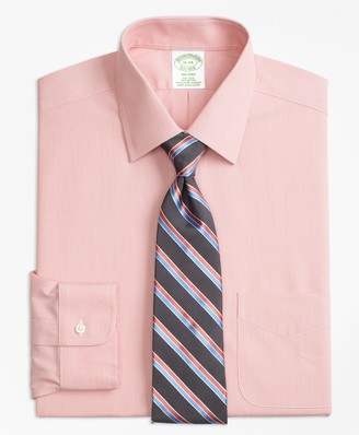 Brooks Brothers Stretch Milano Slim-Fit Dress Shirt, Non-Iron Hairline Stripe