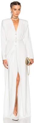 Lanvin V Neck Long Sleeve Gown