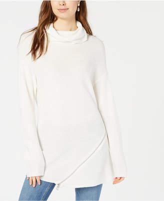 Bar III Zipper-Trim Turtleneck Sweater