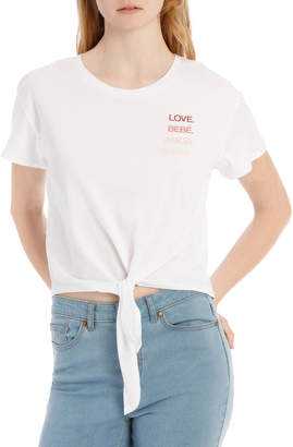 Miss Shop Tie Front Tee - Love Languages