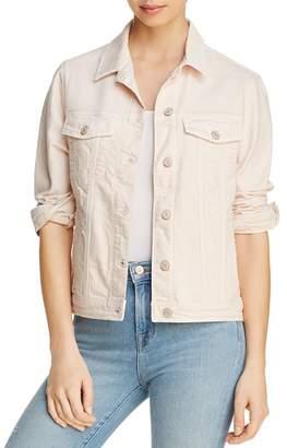 Mavi Jeans Katy Denim Jacket in Heavenly Pink Distressed - 100% Exclusive