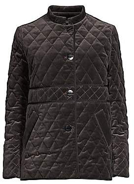 Jane Post Women's Quilted Velvet Jacket