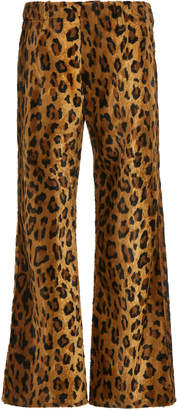Philosophy di Lorenzo Serafini Leopard-Print Cotton-Blend Velvet Cropped Trousers