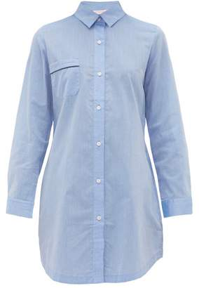 Derek Rose Amalfi Cotton Nightshirt - Womens - Light Blue