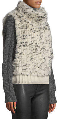 P. Luca Knitted Fur Pullover Vest