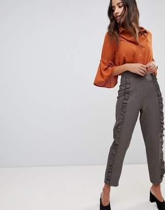 Love Check Frill Detail PANTS
