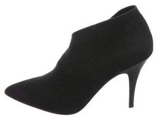 Jean-Michel Cazabat Woven Pointed-Toe Booties